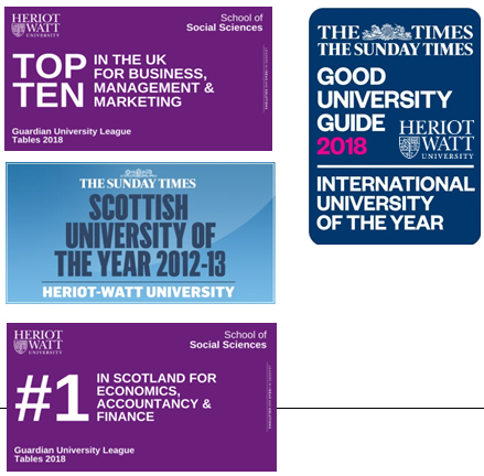 Heriot Watt University Management Degree Programmes – B&B